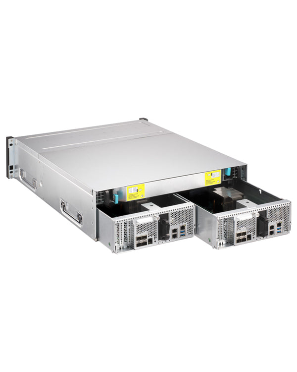 QNAP ES1686dc-128-1410SSE– 140TB integrated w/ 14 x 10TB SAS Ultra  Enterprise drives 16-Bay Active-Active Dual Controller ZFS NAS tested ready  to