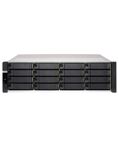 QNAP ES1686dc-128-1214STOE– 168TB integrated w/ 12 x 14TB SAS Enterprise PRO drives 16-Bay Active-Active Dual Controller ZFS NAS tested ready to use, {$sku}, ES1686dc