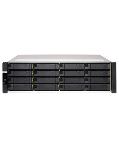 QNAP ES1686dc-128-1414STOE – 196TB integrated w/ 14 x 14TB SAS Enterprise PRO drives 16-Bay Active-Active Dual Controller ZFS NAS tested ready to use, {$sku}, ES1686dc