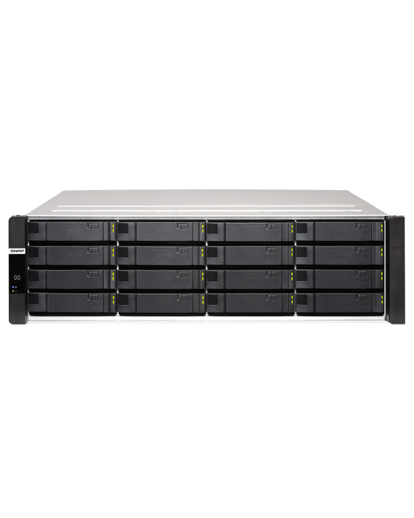 QNAP ES1686dc-128-1414STOE – 196TB integrated w/ 14 x 14TB SAS Enterprise PRO drives 16-Bay Active-Active Dual Controller ZFS NAS tested ready to use