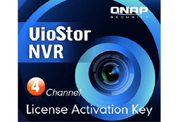 License Pack for 4 Channels for QNAP VioStor NVR - LIC-CAM-NVR-4CH