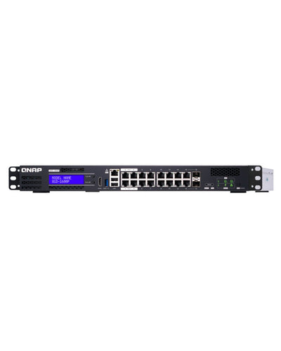QNAP 16-port 1GbE switch with 2 RJ45 and SFP+ combo port with Intel Celeron processor and 8GB RAM