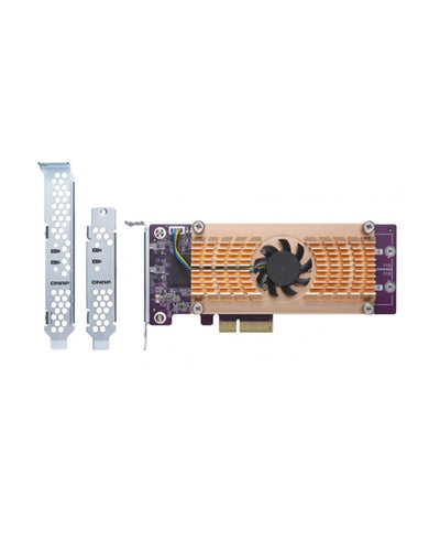 QNAP QM2-2P10G1TA Dual M.2 2280 PCIe SSD & single-port 10GbE expansion card, {$sku}, Peripheral - Expansion Cards