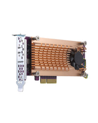 QNAP QM2-2P-344 Dual M.2 PCIe SSD Expansion Card, {$sku}, Peripheral - Expansion Cards