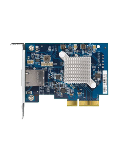 QNAP QXG-10G1T Single-port (10Gbase-T) 10GbE network expansion card, PCIe Gen3 x4, {$sku}, Peripheral - LAN