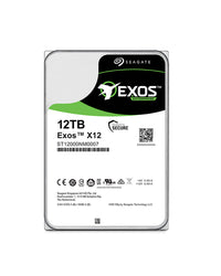 "12TB - Seagate Exos X12 – 12TB Enterprise Hyperscale (521e) Helium 3.5"" SATA drives - ST12000NM0007, {$sku}, EXOS"