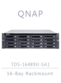 QNAP TDS-16489U-SE1-R2 96TB (12 x 8TB) 16-Bay Rackmount NAS Integrated with HGST Helium (Enterprise SAS)