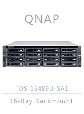 QNAP TDS-16489U-SE1-R2 64TB (16 x 4TB) 16-Bay Rackmount NAS Integrated with HGST Ultrastar (Enterprise), {$sku}, TDS-16489U-SE1-R2-US