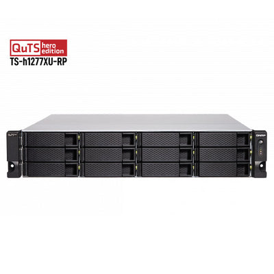 QNAP TS-h1277XU-RP-32G-68IW 48TB (6x8TB) Ironwolf NAS drive ready to use out of the box.