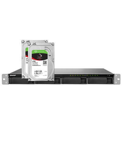 QNAP TS-983XU-RP-E2124-8G-US – Diskless with 2 x 4TB IronWolf Drives