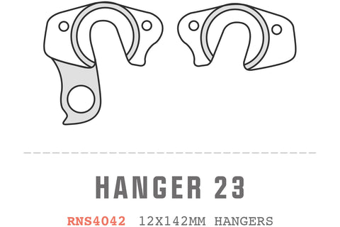 Saracen - Hanger 23 fits: Ariel/Kili Flyer Carbon 12x142mm 2014