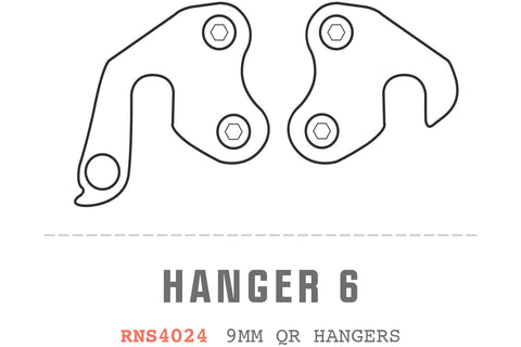 Saracen - Hanger 06 fits: All Ariel models (9mm QR hangers PAIR)