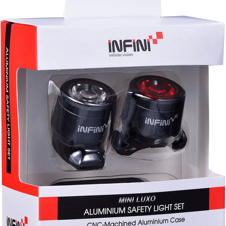 INFINI - Mini-Luxo USB front and rear lightset, black - £49.99