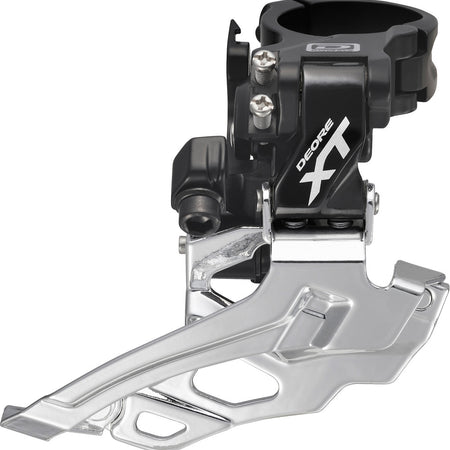 Shimano - FD-M786 XT 10-speed double front derailleur, conventional swing, black Hover to zoom