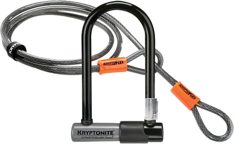 Kryptonite - KryptoLok Series 2 Mini U-lock with FlexFrame bracket