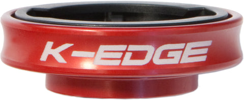 K-Edge Gravity Cap Mount for Garmin Edge and FR 1/4 Turn type computers - red
