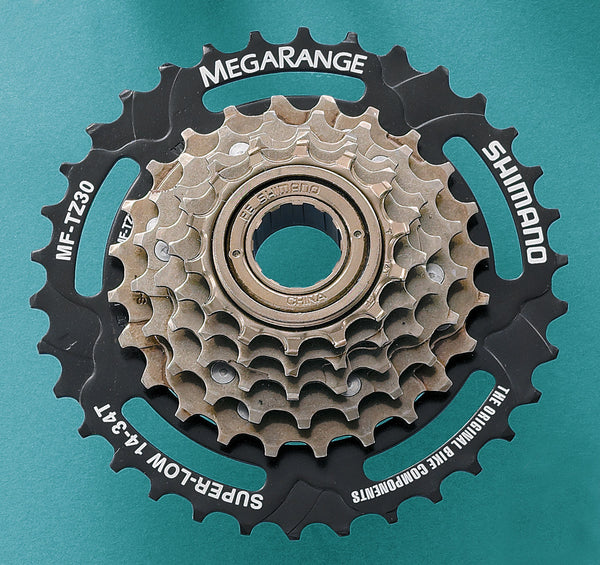 Shimano - MF-TZ30 6-speed multiple freewheel, 14-34 T MegaRange