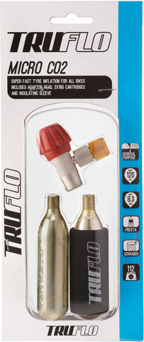 Truflo - Micro CO2 pump - including 2 x 16 g cartridges