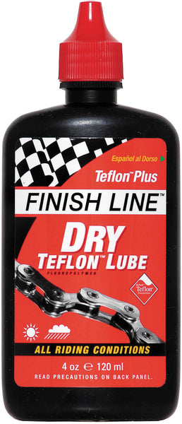 Finish Line - Teflon Plus Dry chain lube 4 oz / 120 ml bottle