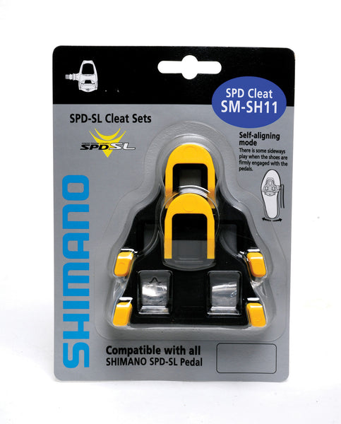 Shimano - SM-SH11 SPD SL-cleats, centre pivot floating, yellow