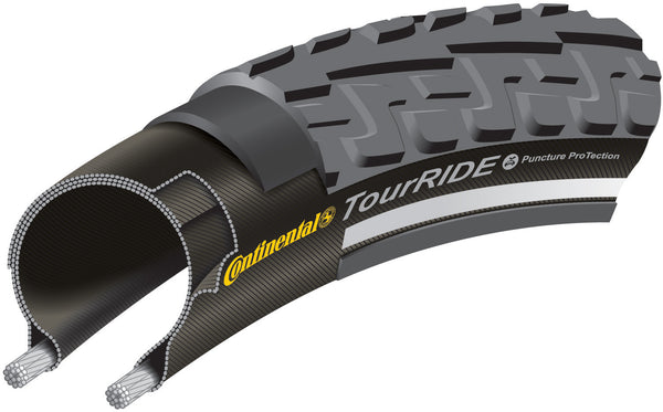 Continental - Tour Ride 28 x 1 3/8 Black Tyre