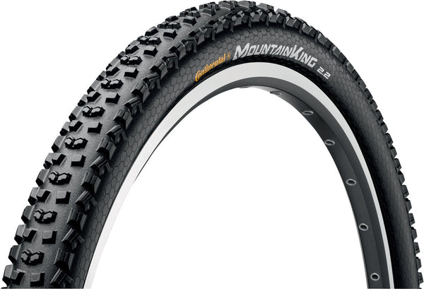"Continental - Mountain King II 27.5 x 2.2"" PureGrip Black Folding Tyre"