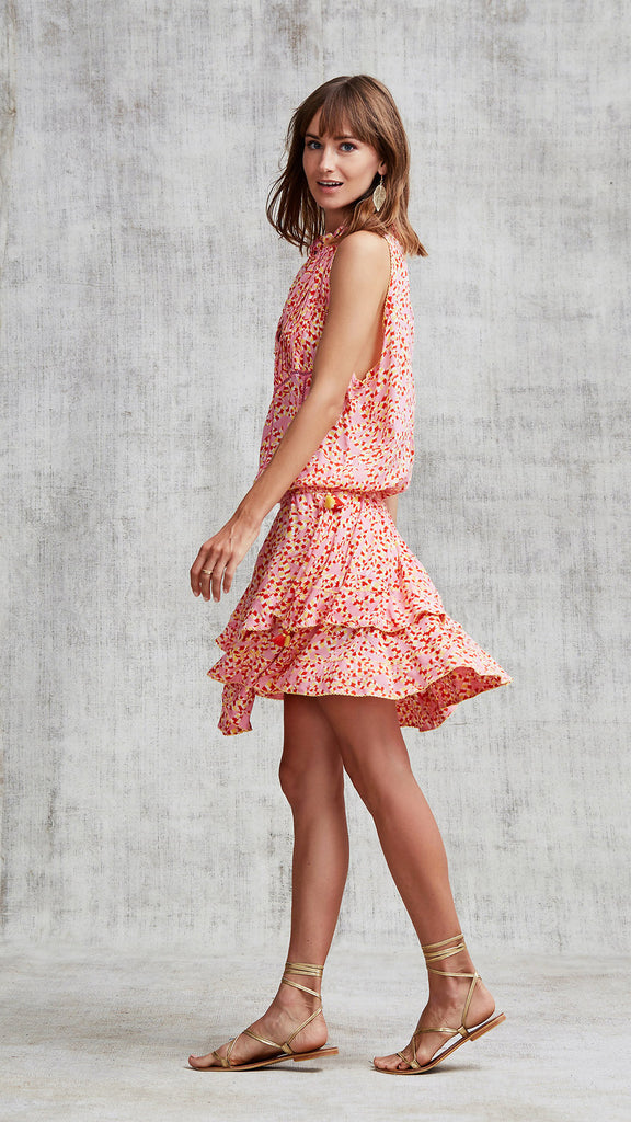 MINI DRESS AMORA LAYERED - PINK PAPILON