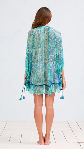 DRESS PONCHO BETY - GREEN DAY NIGHT