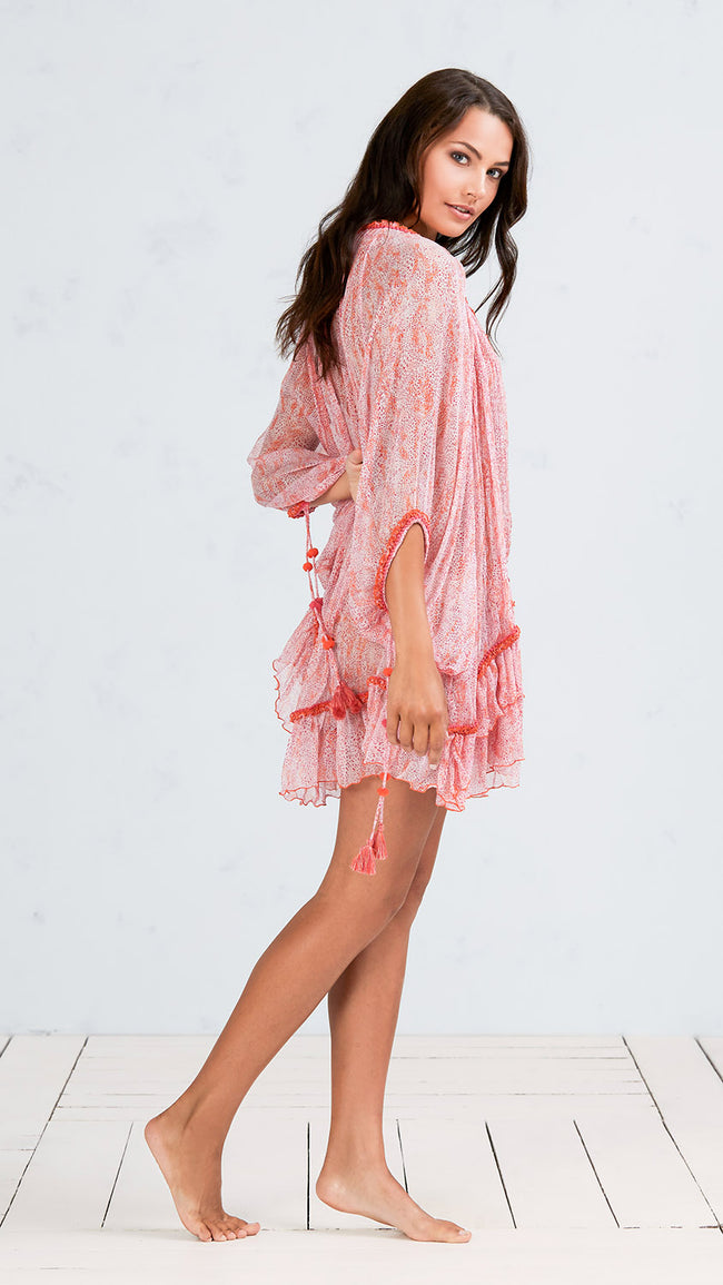 DRESS PONCHO BETY - ORANGE CLOUD