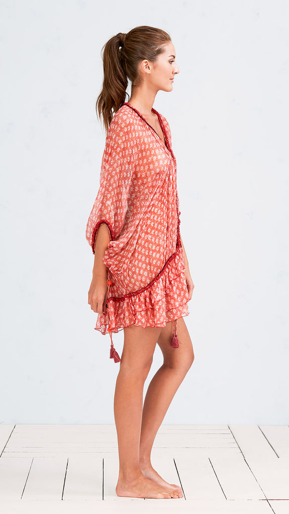 DRESS PONCHO BETY - ORANGE VENIZIA