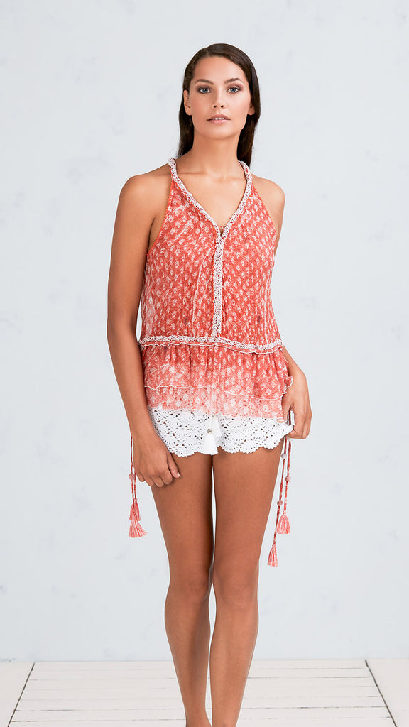 SINGLET BETY - ORANGE VEMIZIA
