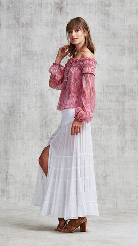 TOP BLOUSE CLARA OFF SHOULDER - PINK FANCIFUL