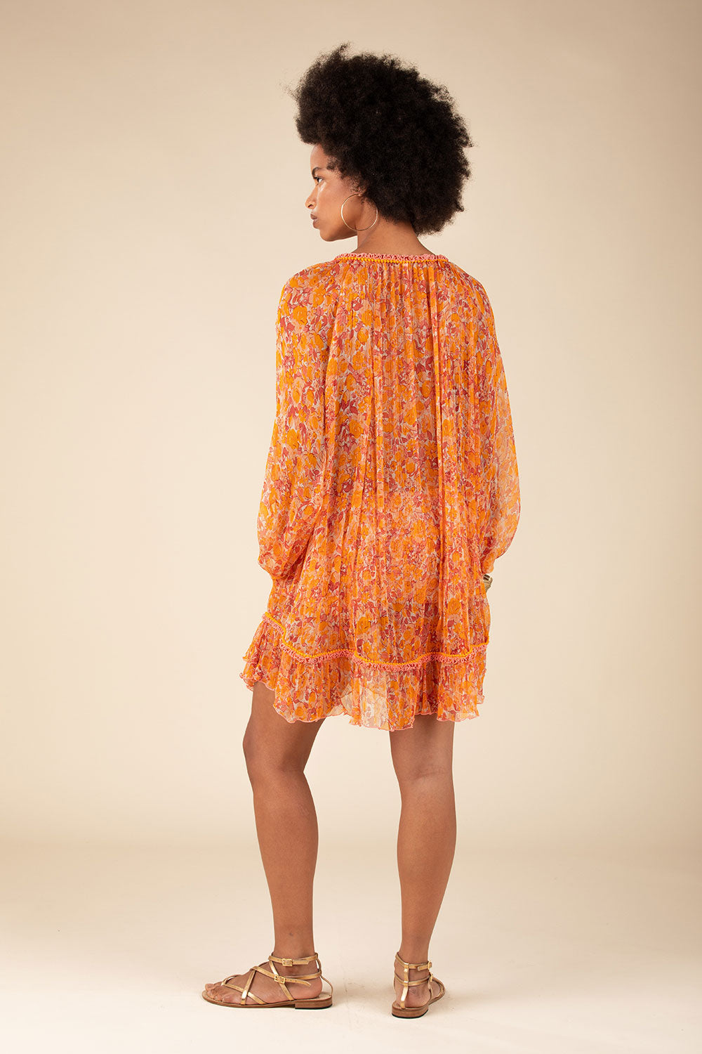 Dress Poncho Bety Ruffled - Yellow Rose
