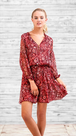 DRESS ALICIA - RED HOLLY