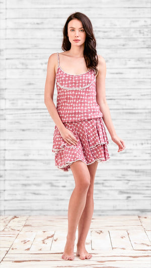 DRESS DONNA - PINK NET TASSEL