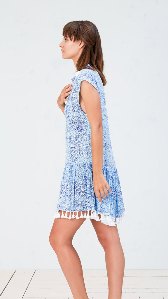MINI DRESS ELODIE - BLUE JOY