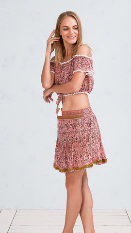 MINI SKIRT PIPPA - PINK JASMINE