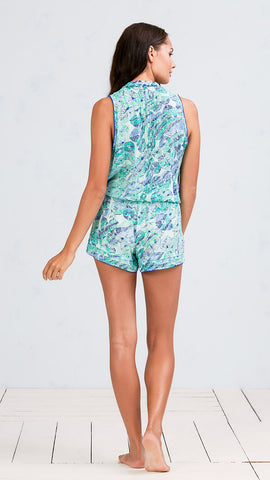 SHORT JUMPSUIT ISMA - GREEN DAY NIGHT