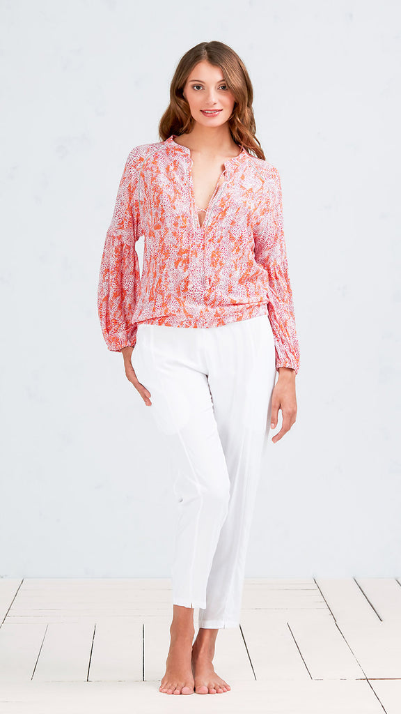 TOP BLOUSE ISMA - ORANGE CLOUD