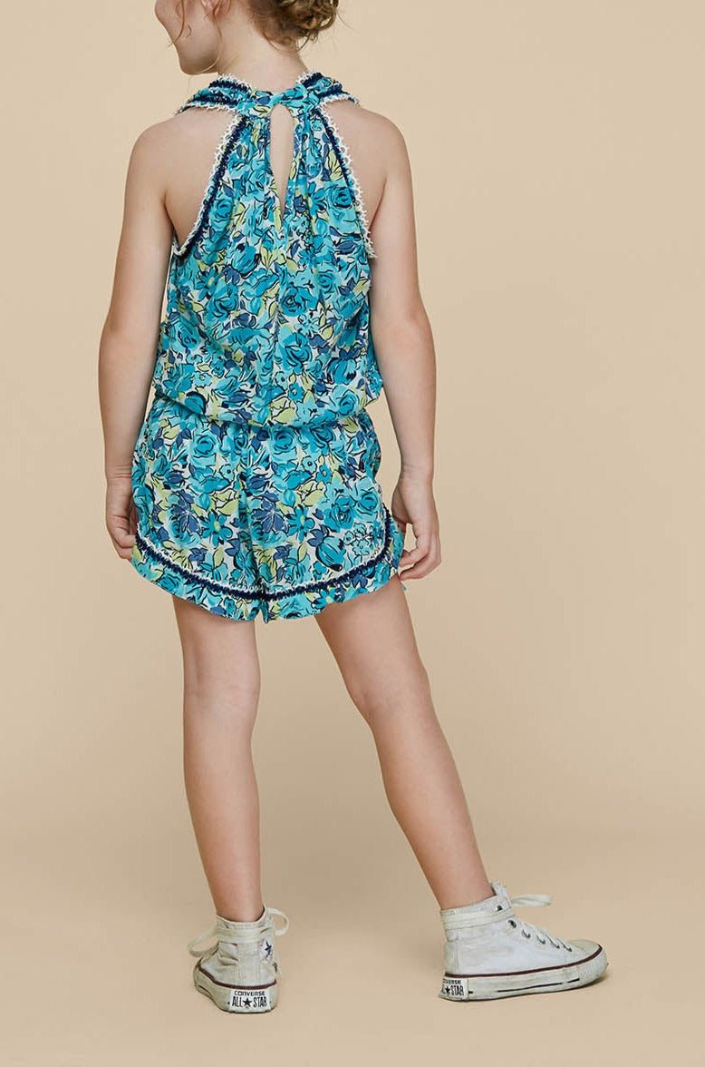 Kids Short Jumpsuit Jena Sleeveless - Green Rose