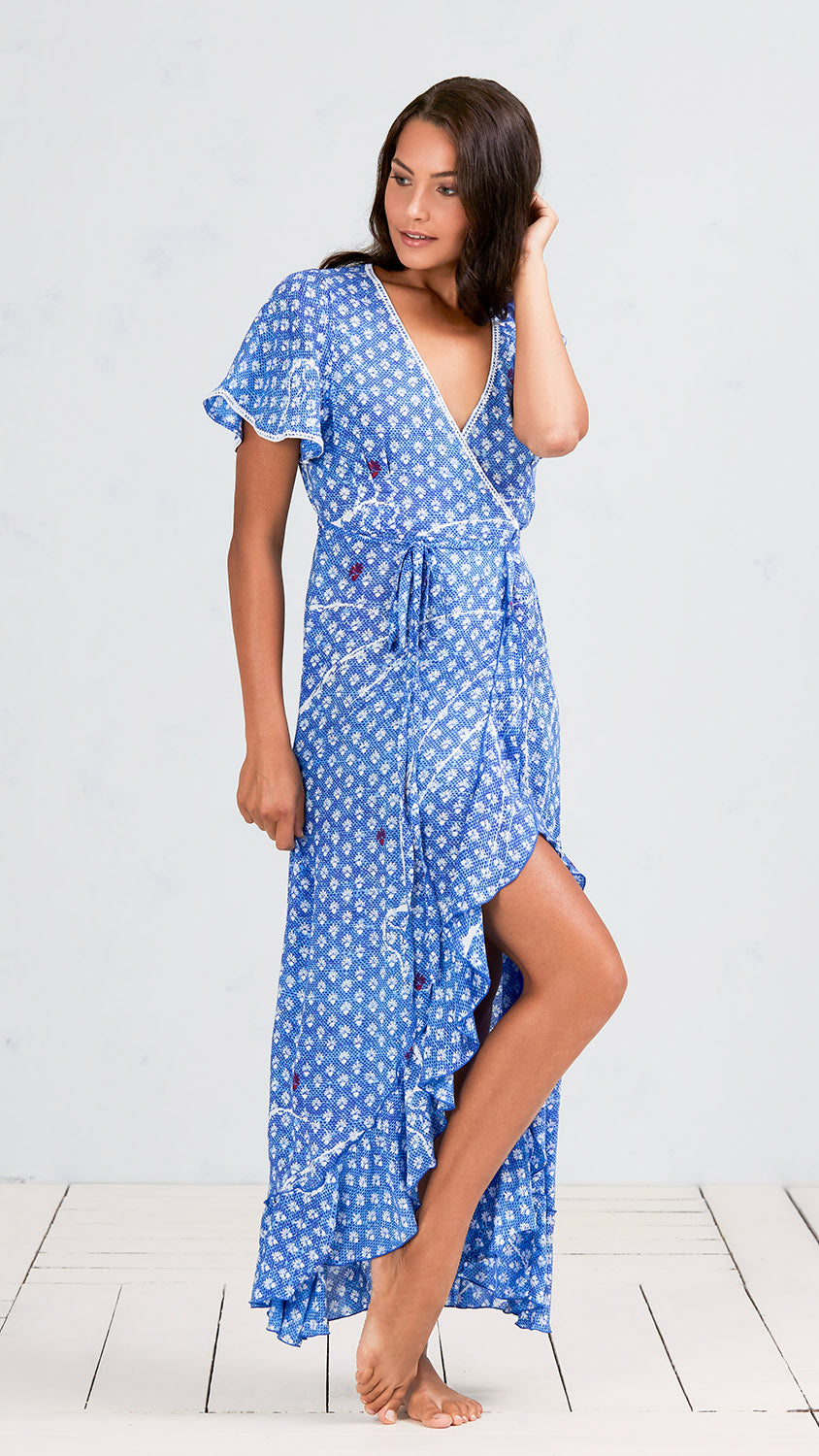 Joe printed wrap dress Poupette St Barth 4Opyriz