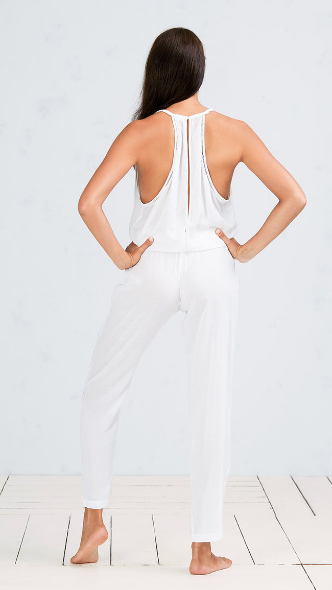 LONG JUMPSUIT JOE - WHITE