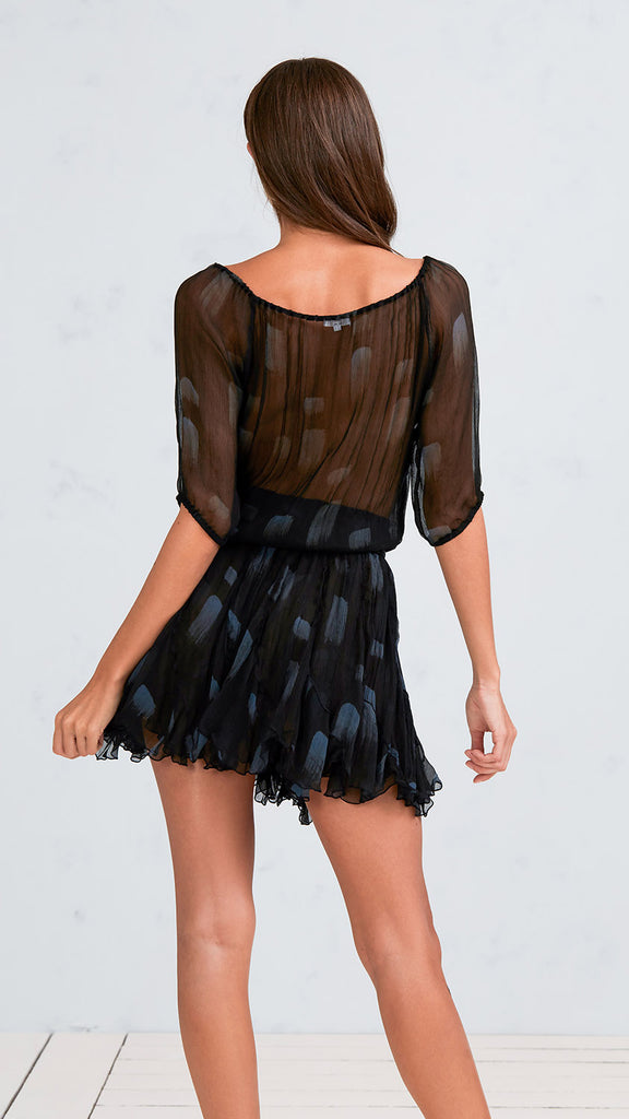 MINI DRESS JOE - BLACK GREY BRUSH