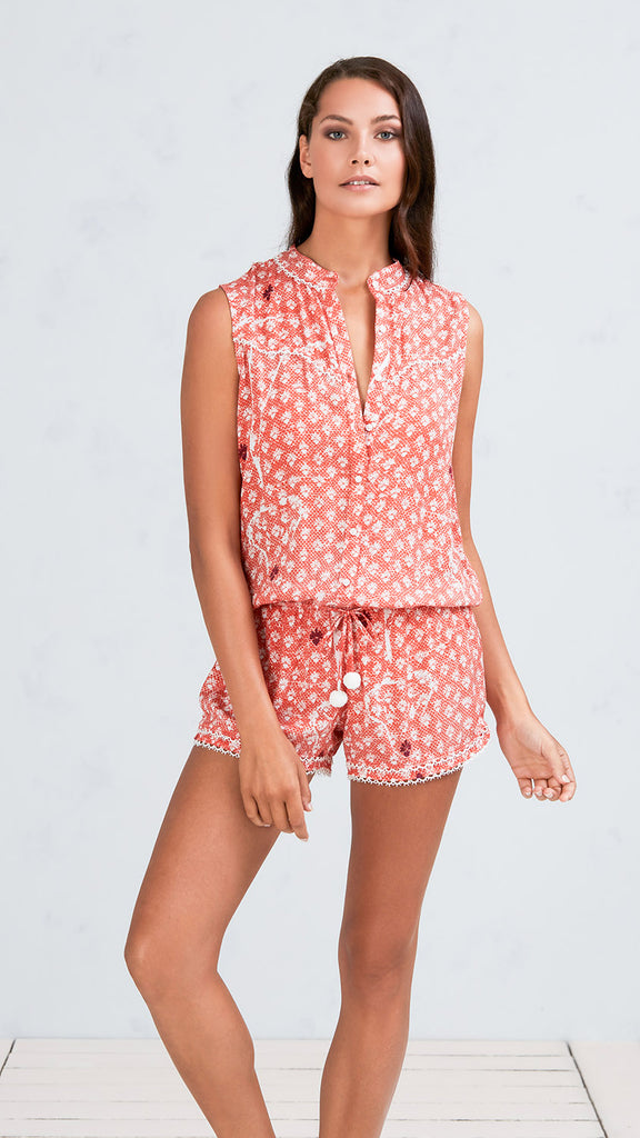 SHORT JUMPSUIT JOE - ORANGE VENIZIA
