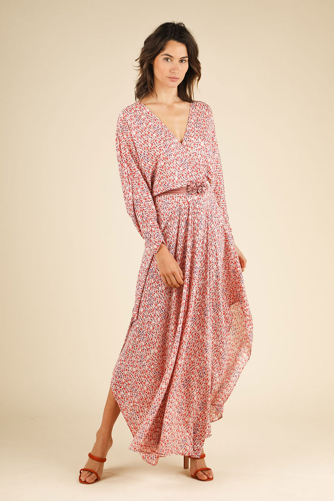 Long Dress Ilona Flounce - Pink Bell