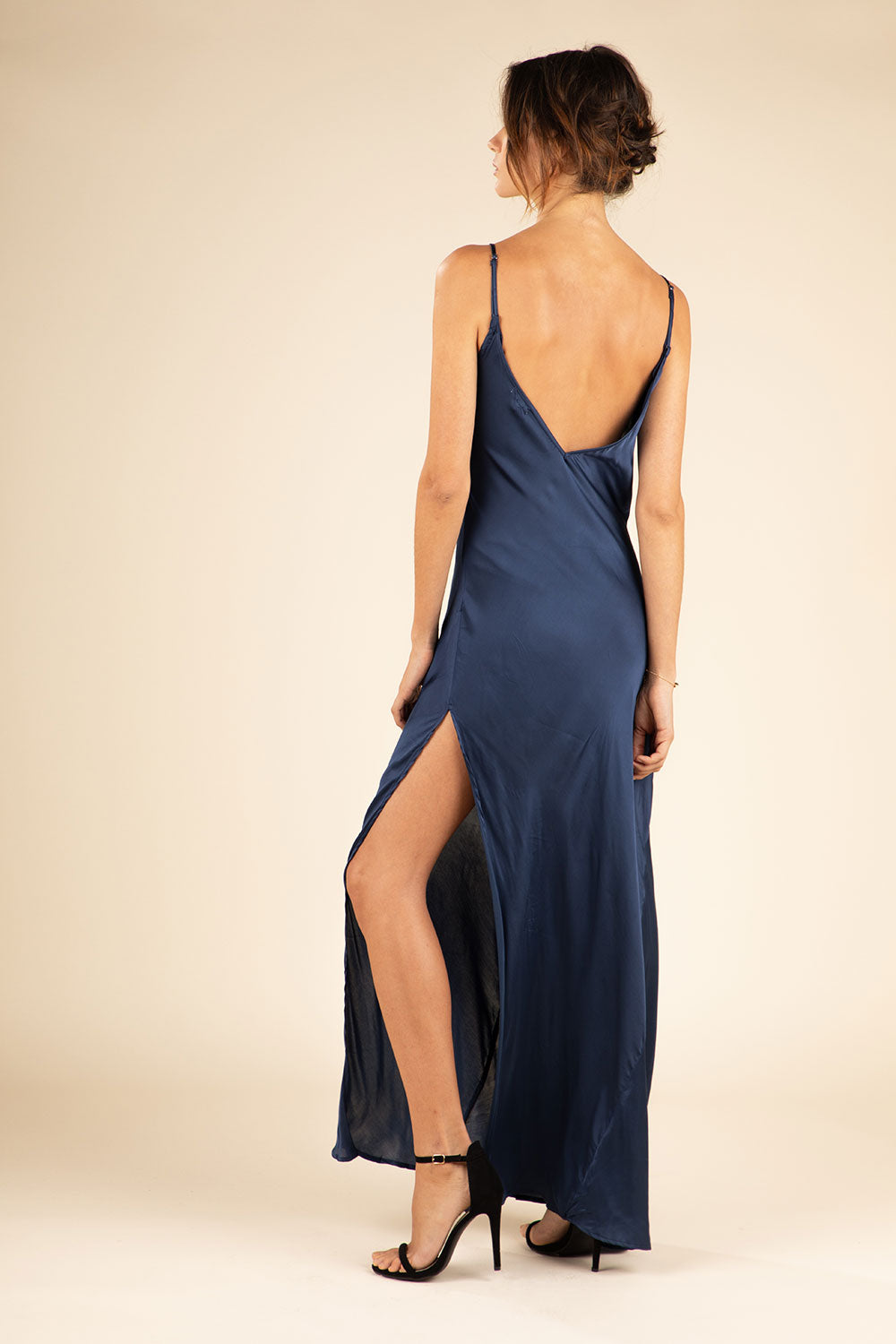 Long Dress Irma Broderie - Navy