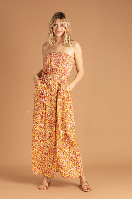 Long Dress Ollie Flounce - Orange Egypt