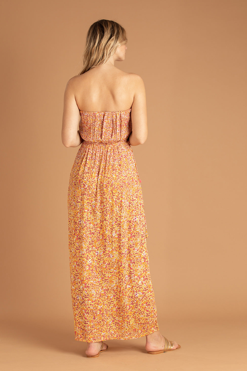 Long Dress Mara Strapless - Yellow Glory