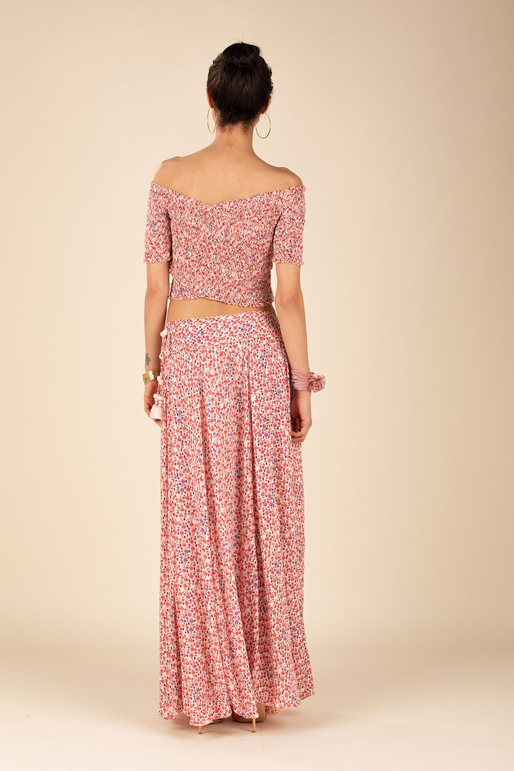 Long Skirt Jena Panelled - Pink Bell