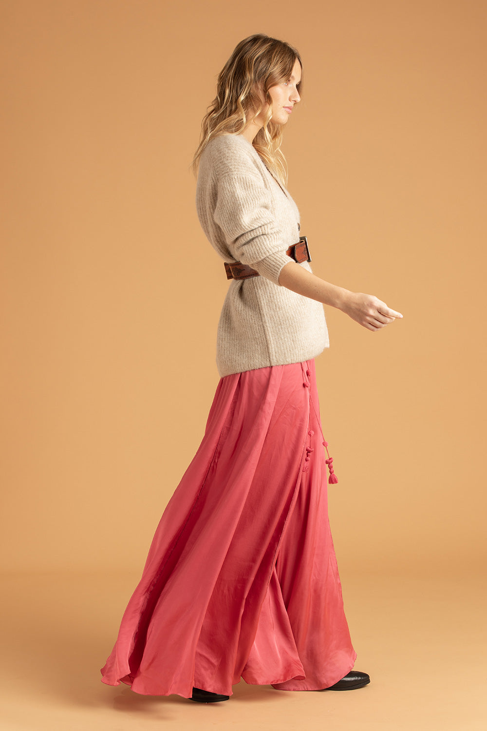 Long Skirt Jena Panelled - Pink